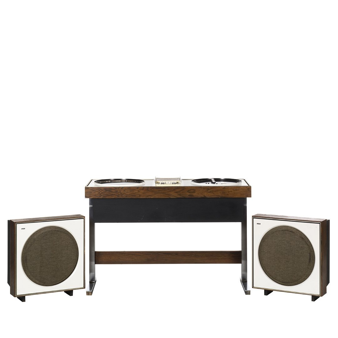 Vintage RCA Stereo With Satellite Speakers