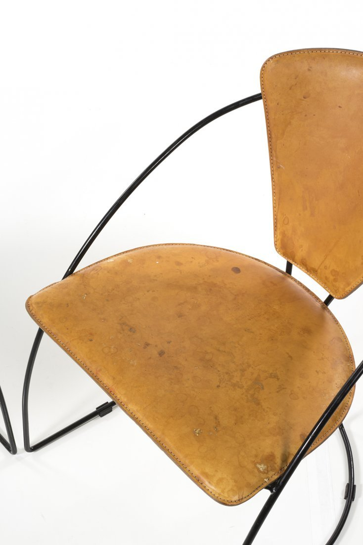 Iron and Leather Chairs (4) - 4