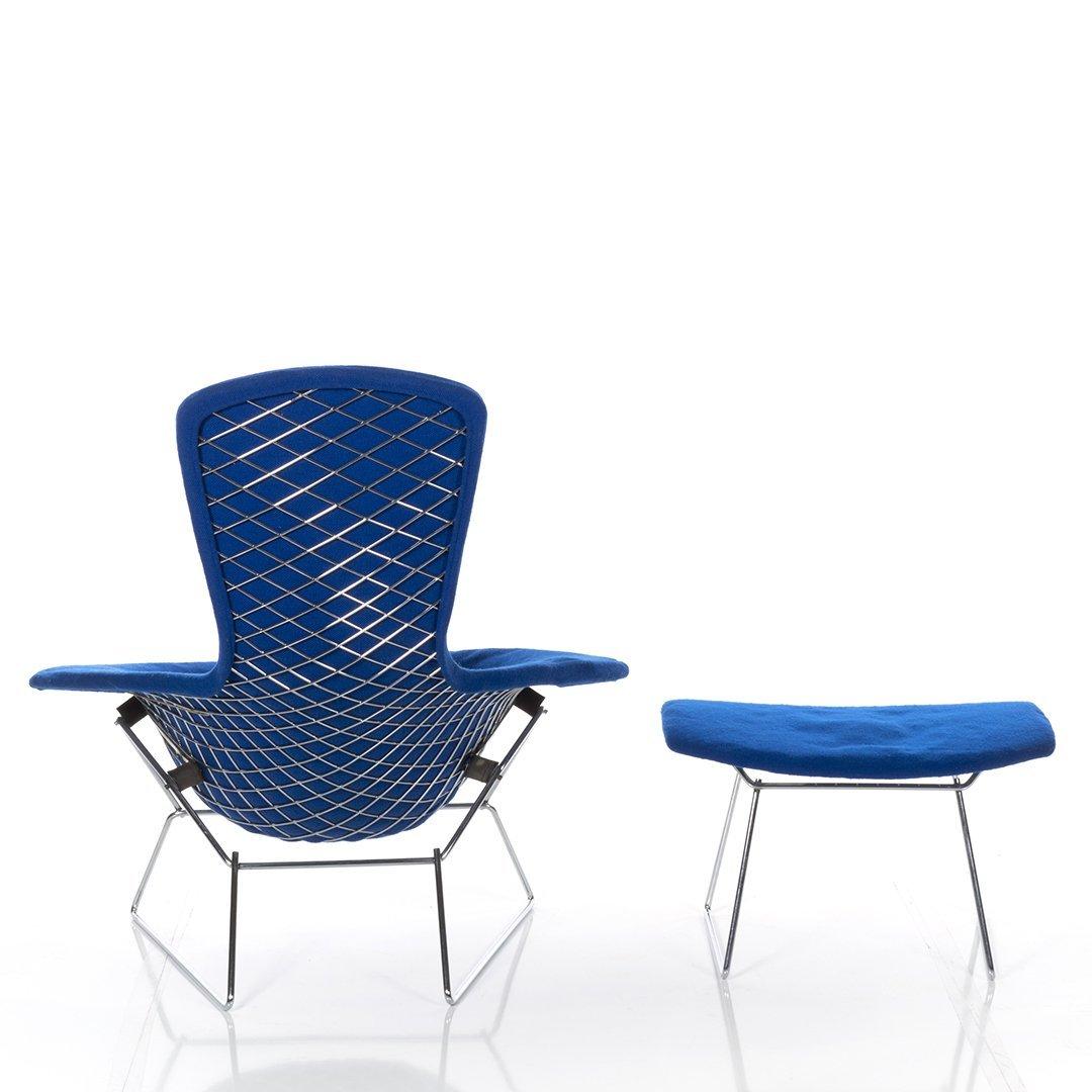 Harry Bertoia Bird Chair and Ottoman - 4