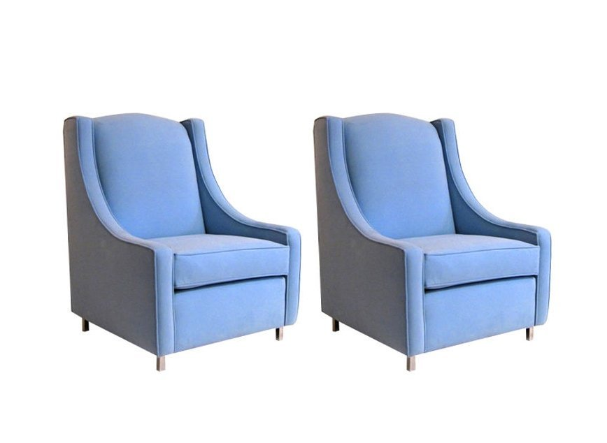Ultrasuede Club Chairs (2)