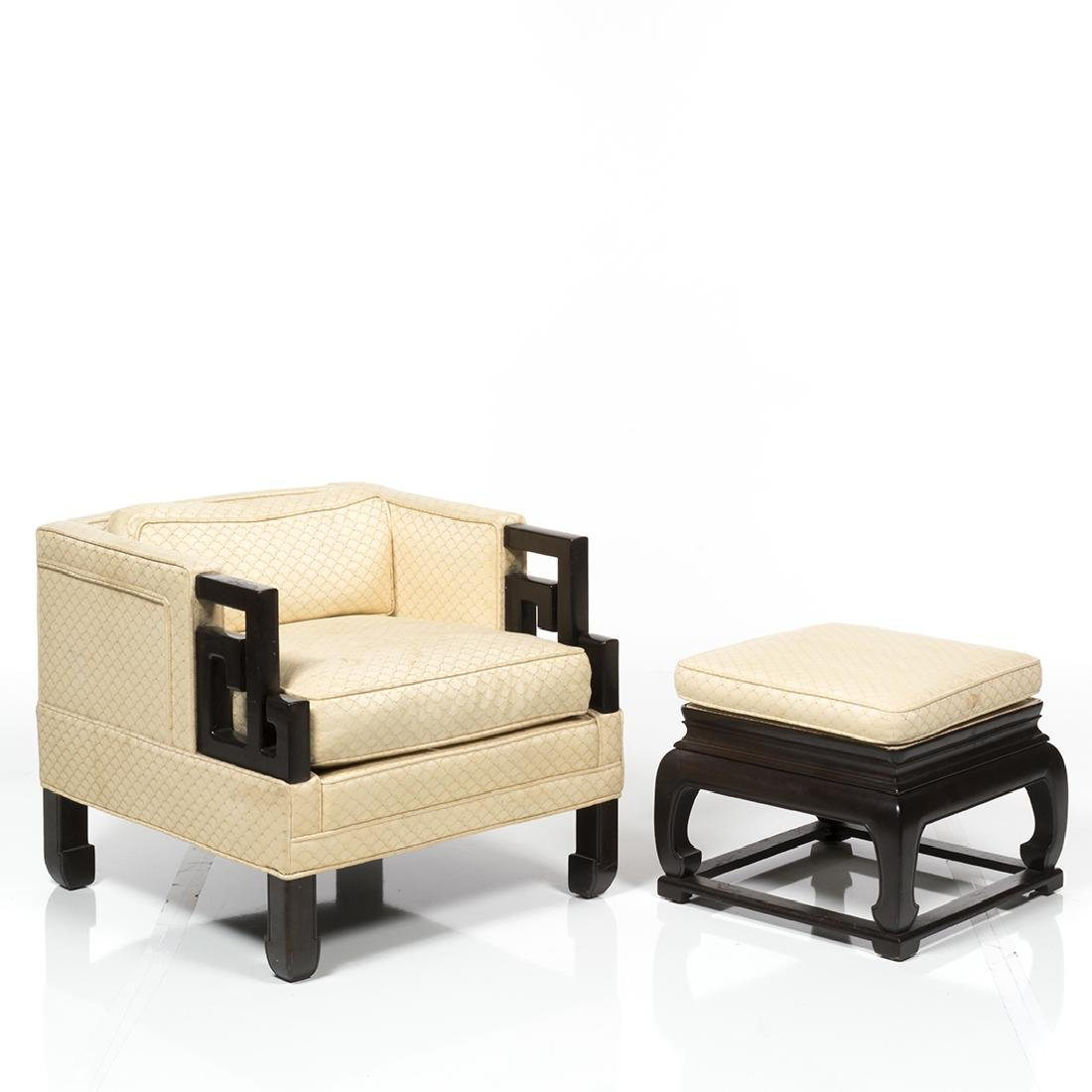 Michael Taylor Far East Chair and Ottoman