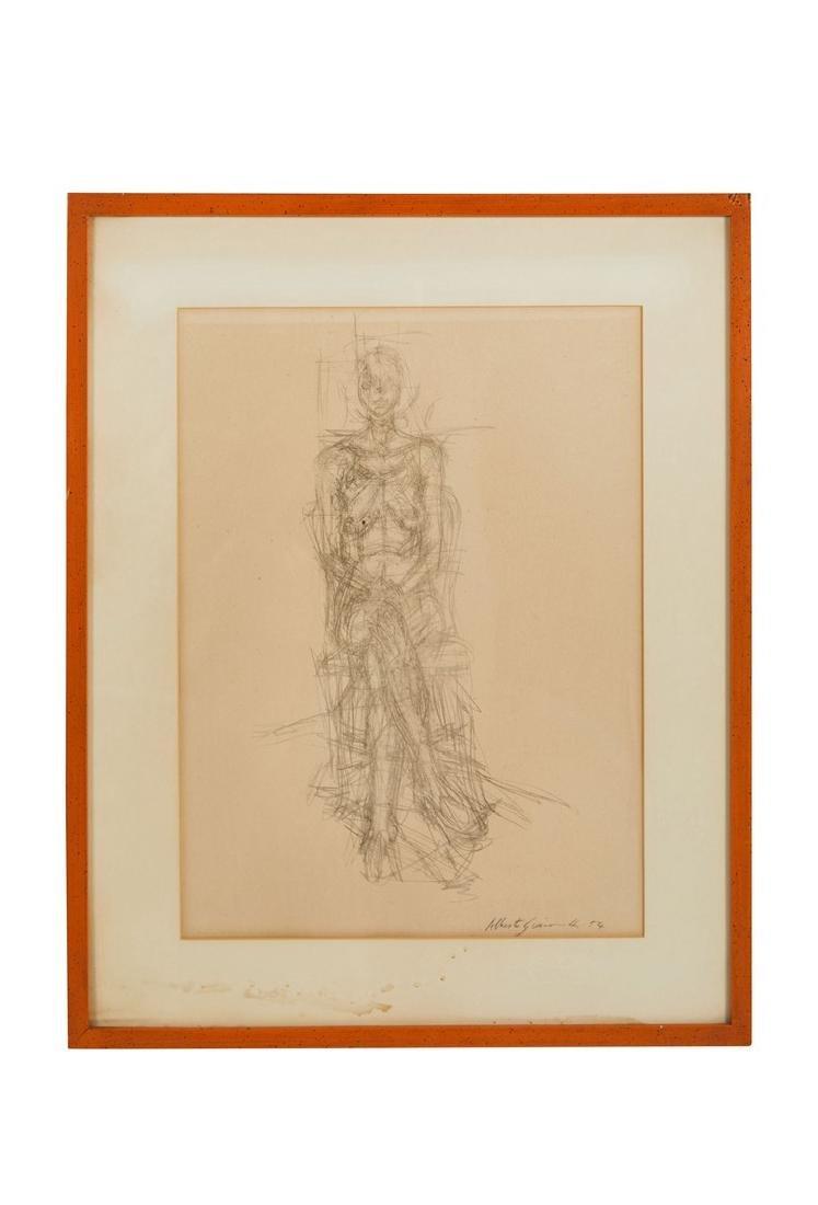 Alberto Giacometti Pencil Drawing