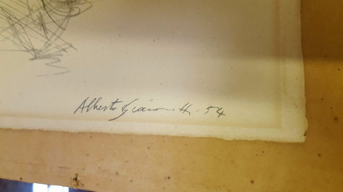 Alberto Giacometti Pencil Drawing - 3