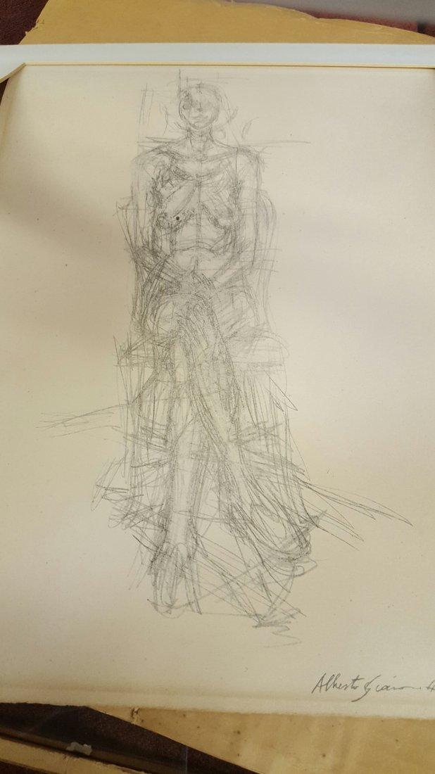 Alberto Giacometti Pencil Drawing - 6