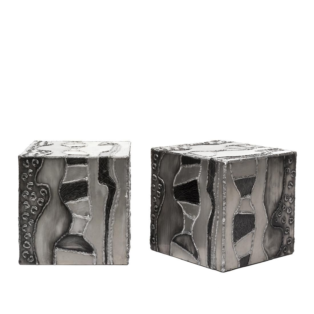 Paul Evans attributed Argente Side Tables (2)