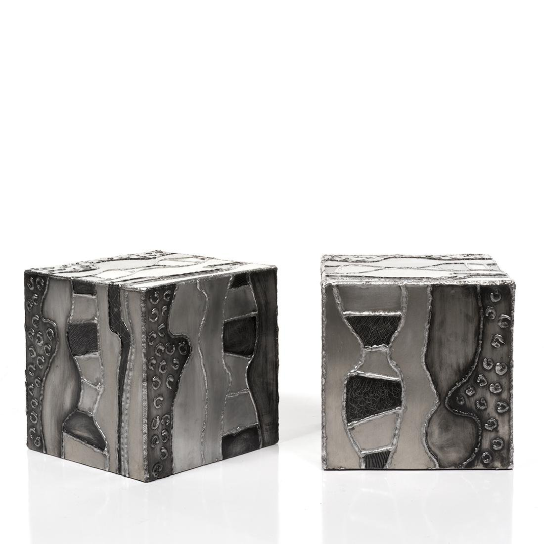 Paul Evans attributed  Argente Side Tables (2) - 4