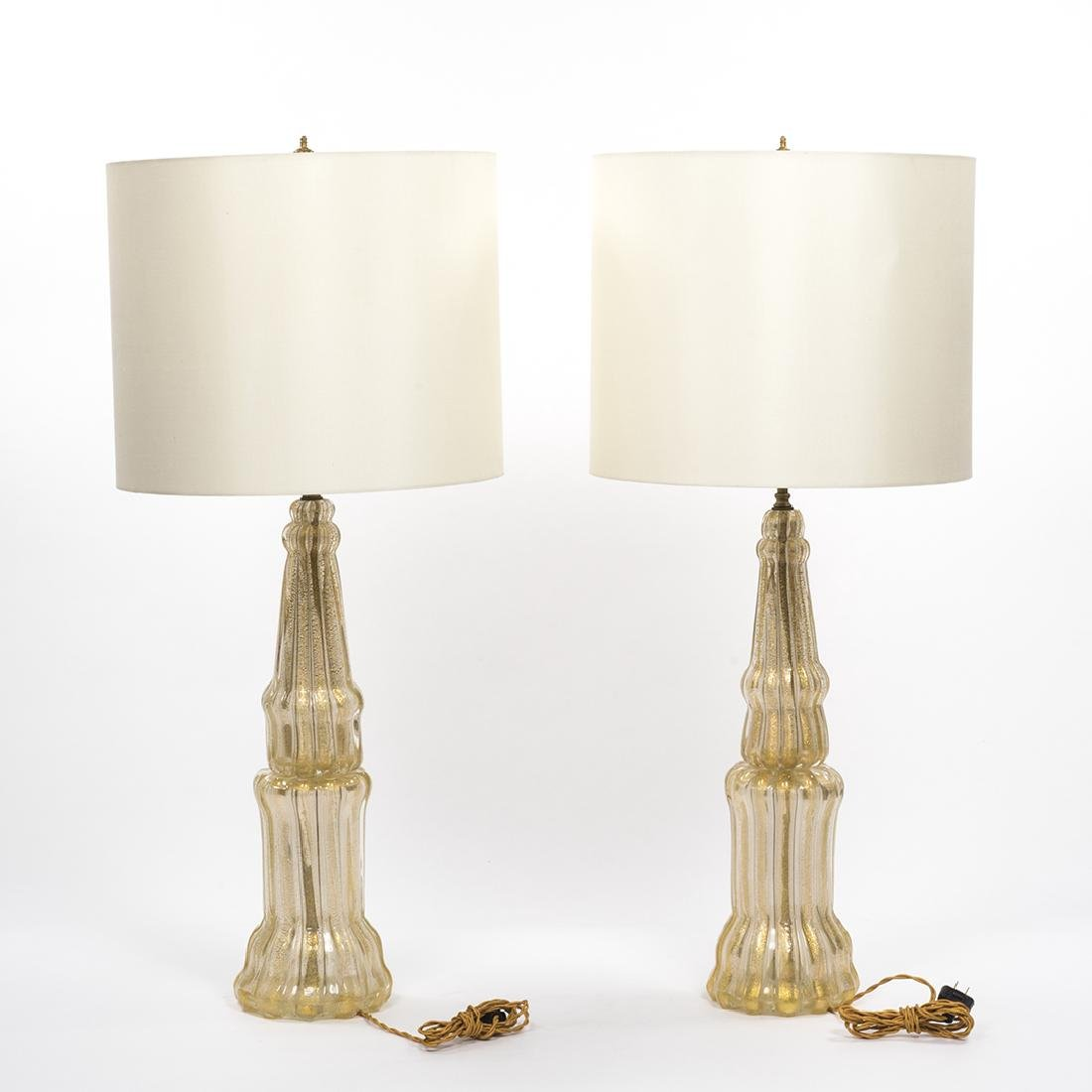 Barovier and Toso Murano Glass Lamps (2) - 2