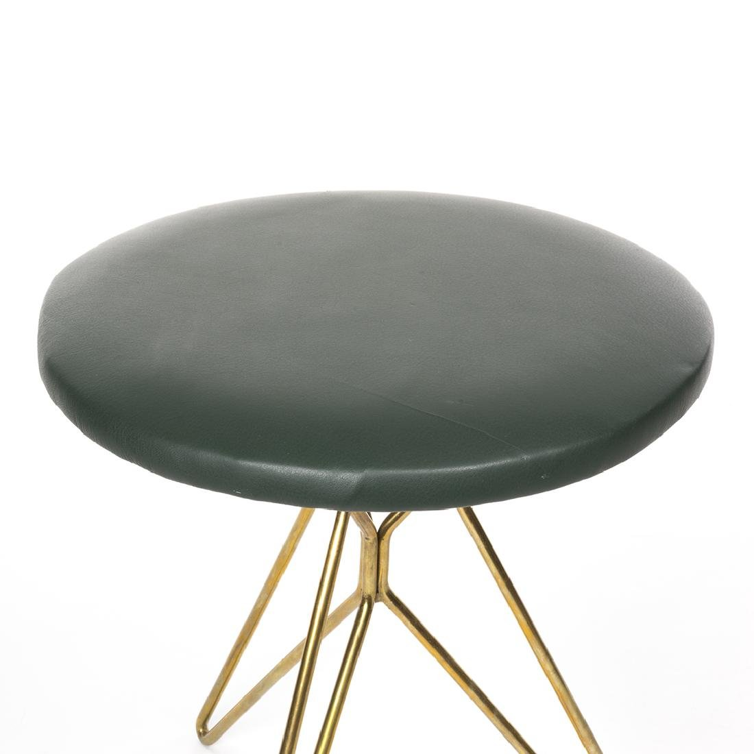 Italian leather and Brass Stools (2) - 3