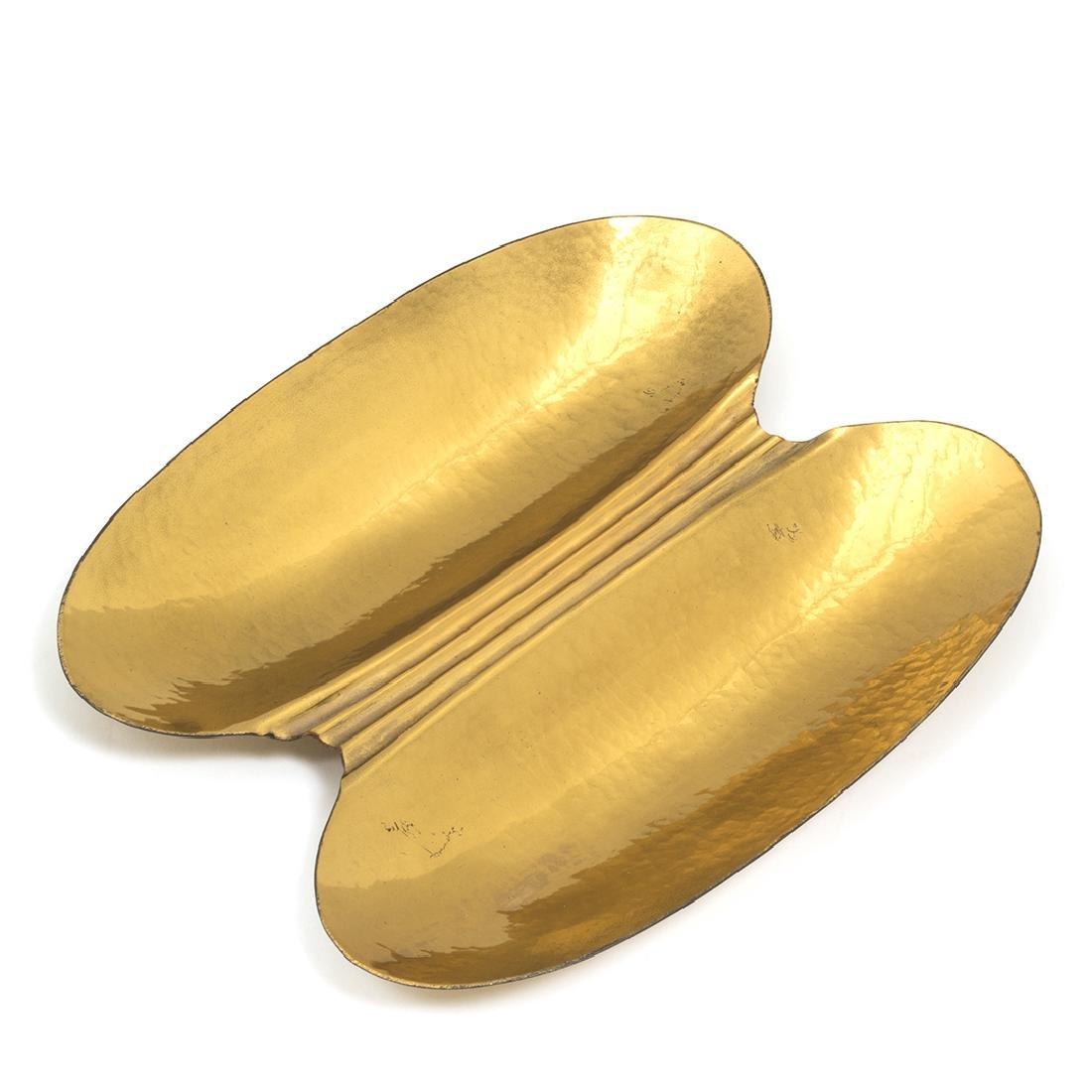 Stilnovo Hammered Brass Dish