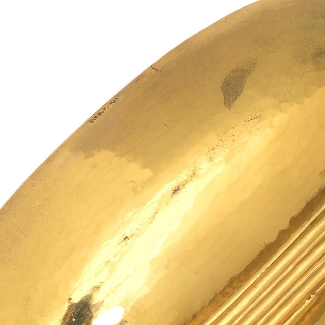 Stilnovo Hammered Brass Dish - 3