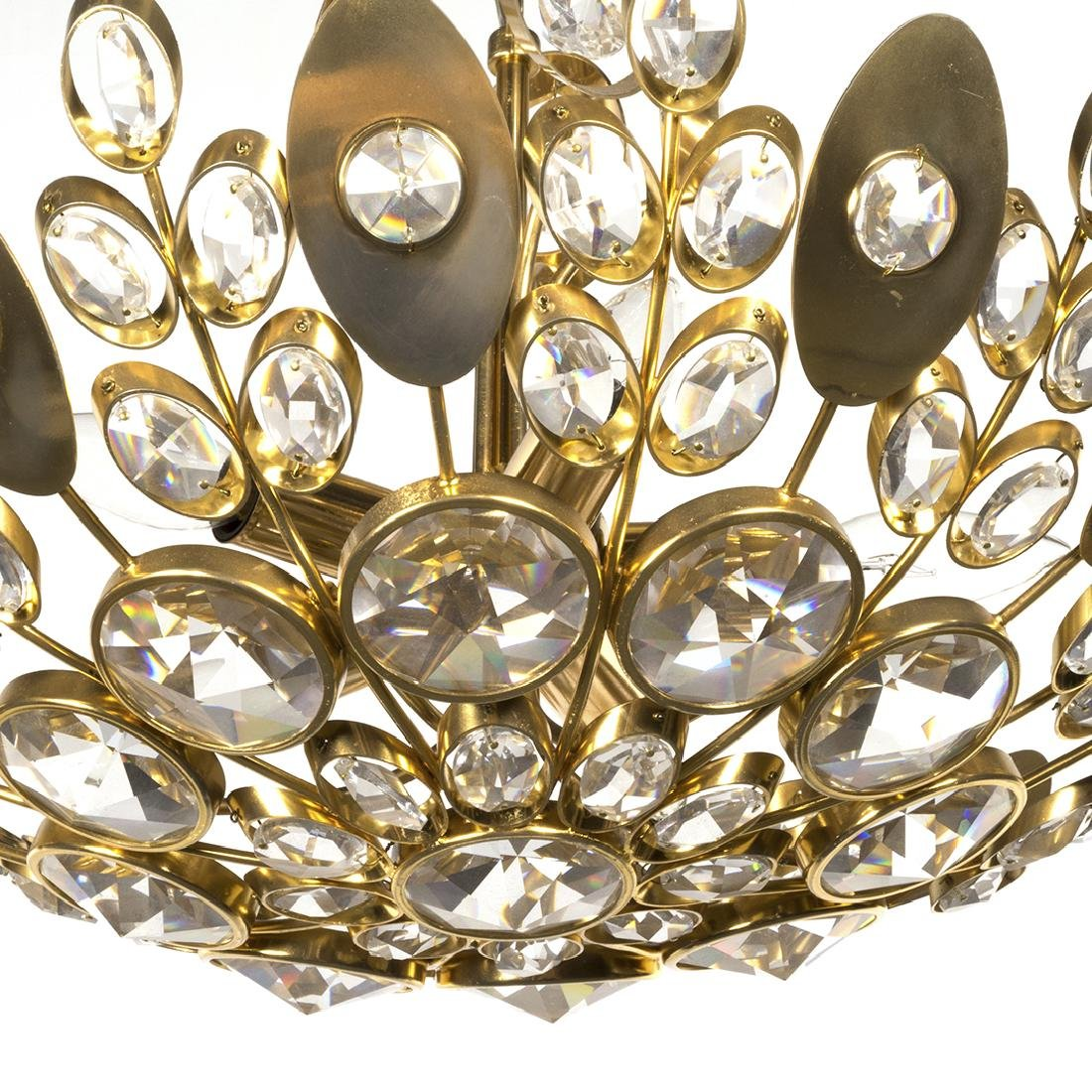 Italian Crystal and Brass Dome Light - 2