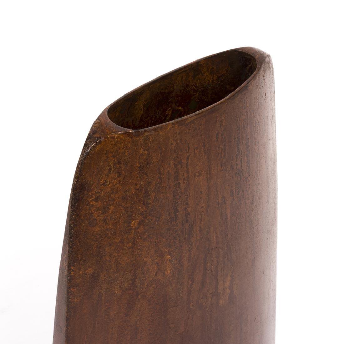Jeffrey Brown Bronze Vase - 4