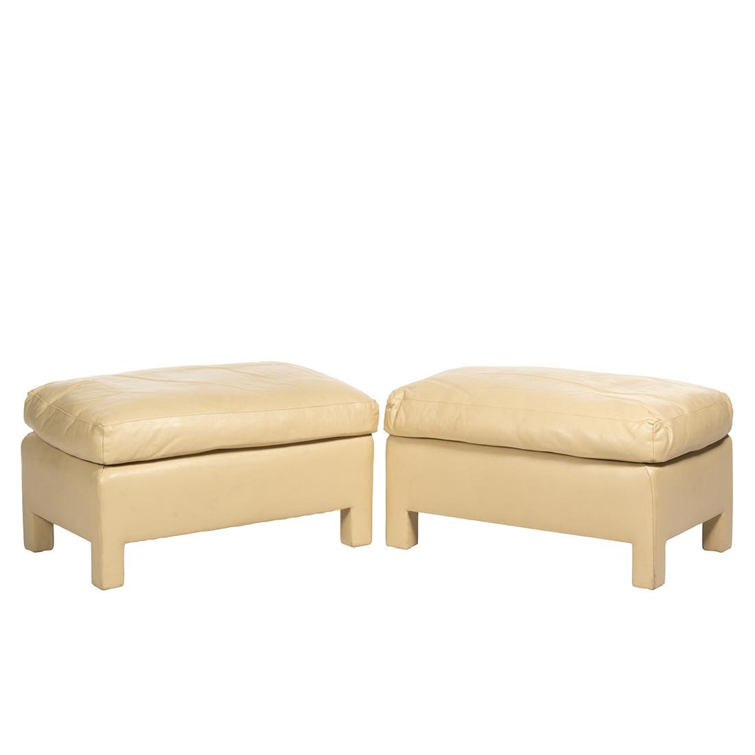 Donghia Leather Ottomans (2)