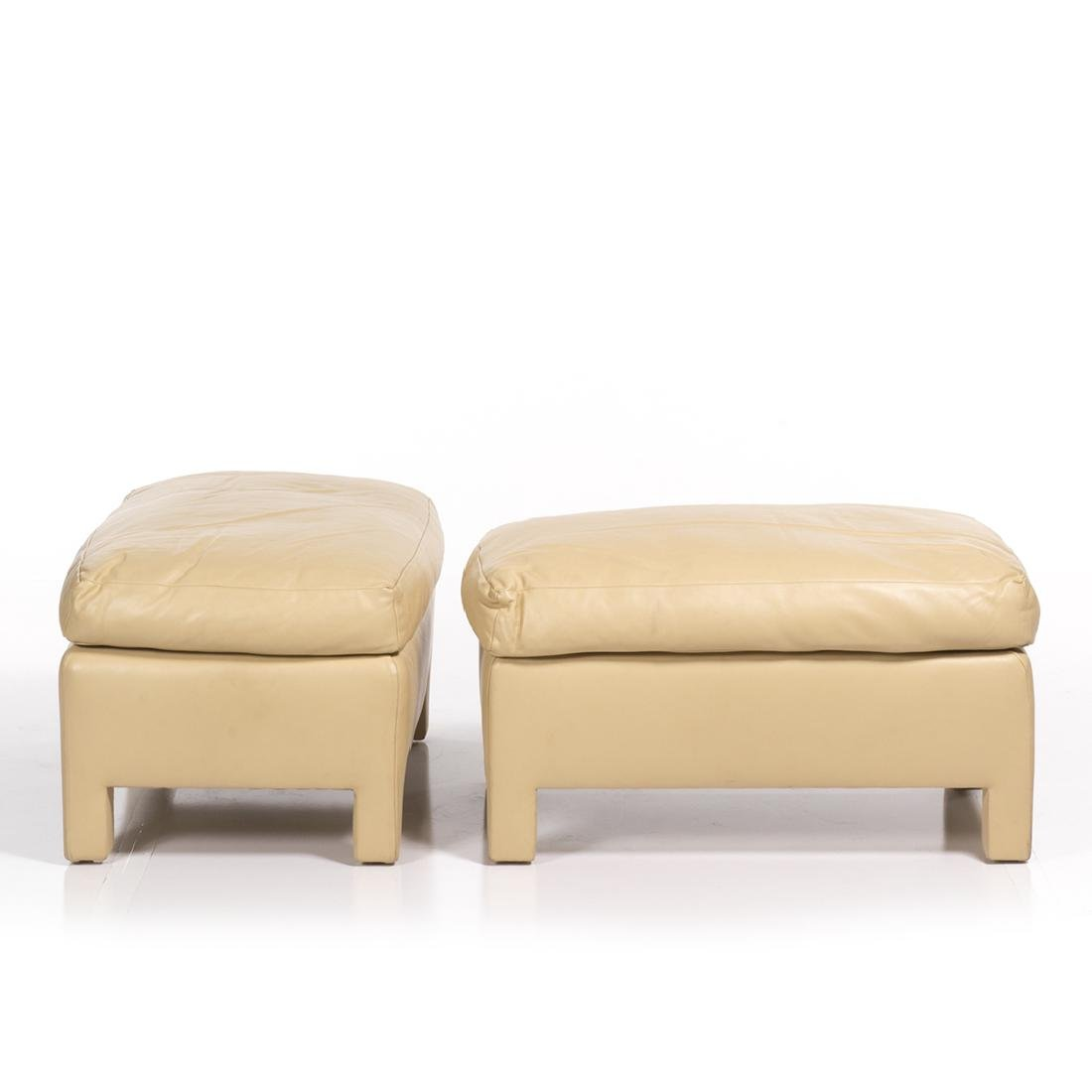 Donghia Leather Ottomans (2) - 2