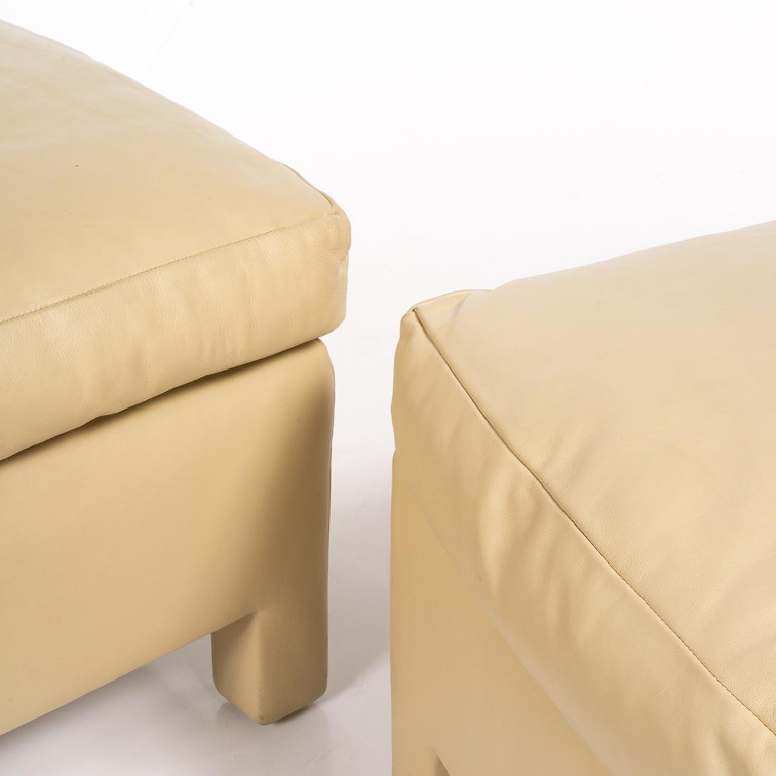 Donghia Leather Ottomans (2) - 3