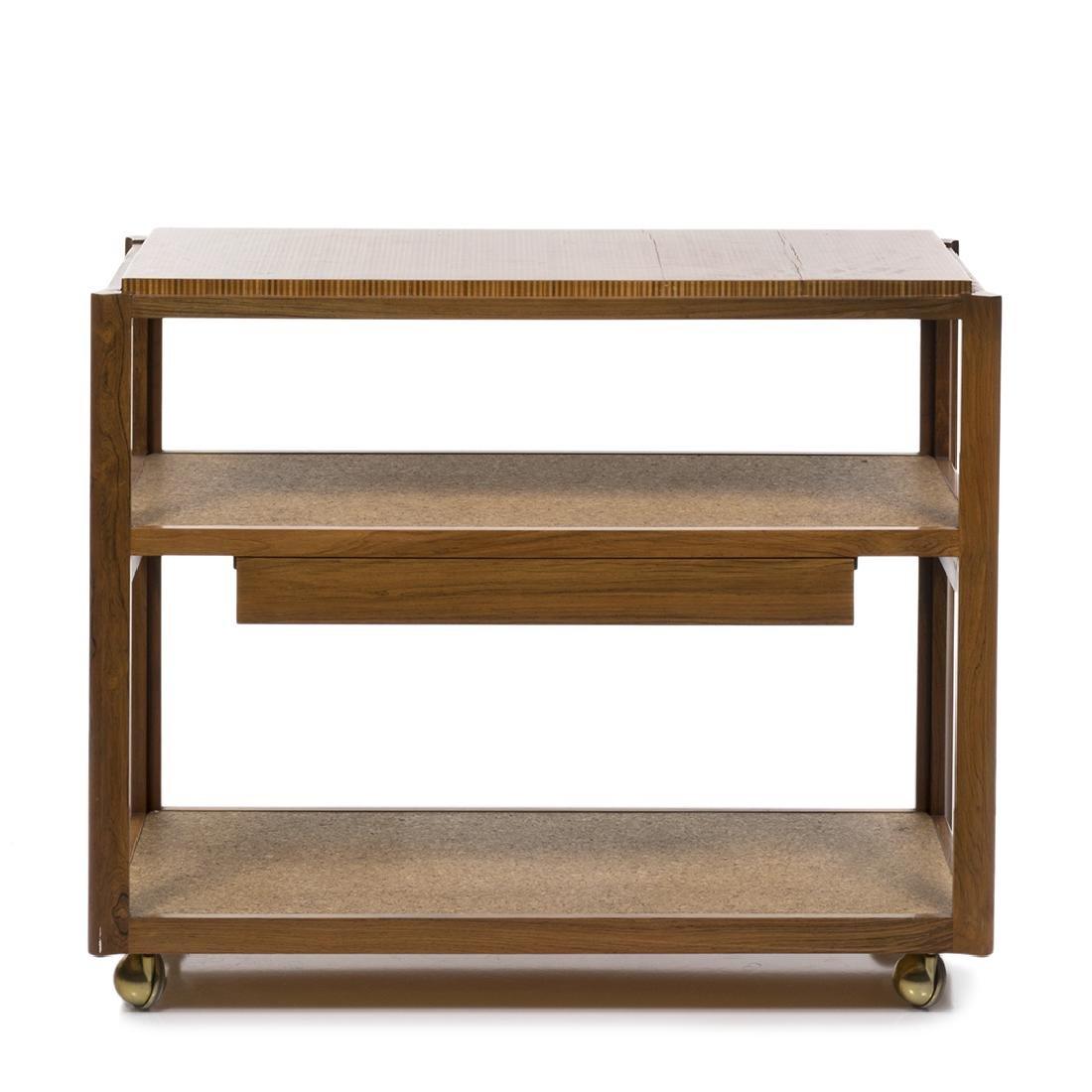 Edward Wormley Rosewood Bar Cart