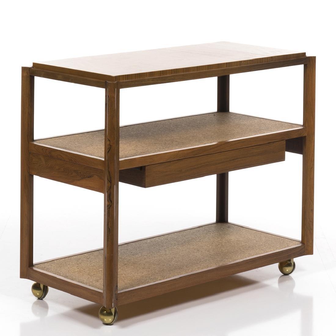 Edward Wormley Rosewood Bar Cart - 2