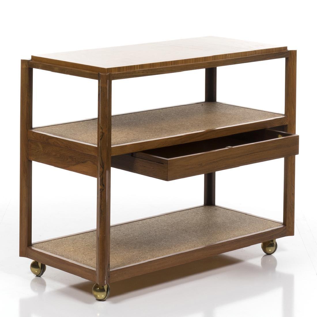 Edward Wormley Rosewood Bar Cart - 3