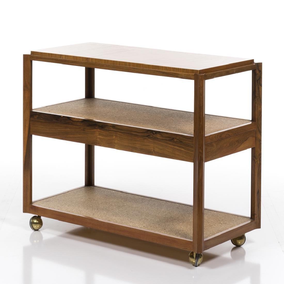 Edward Wormley Rosewood Bar Cart - 6
