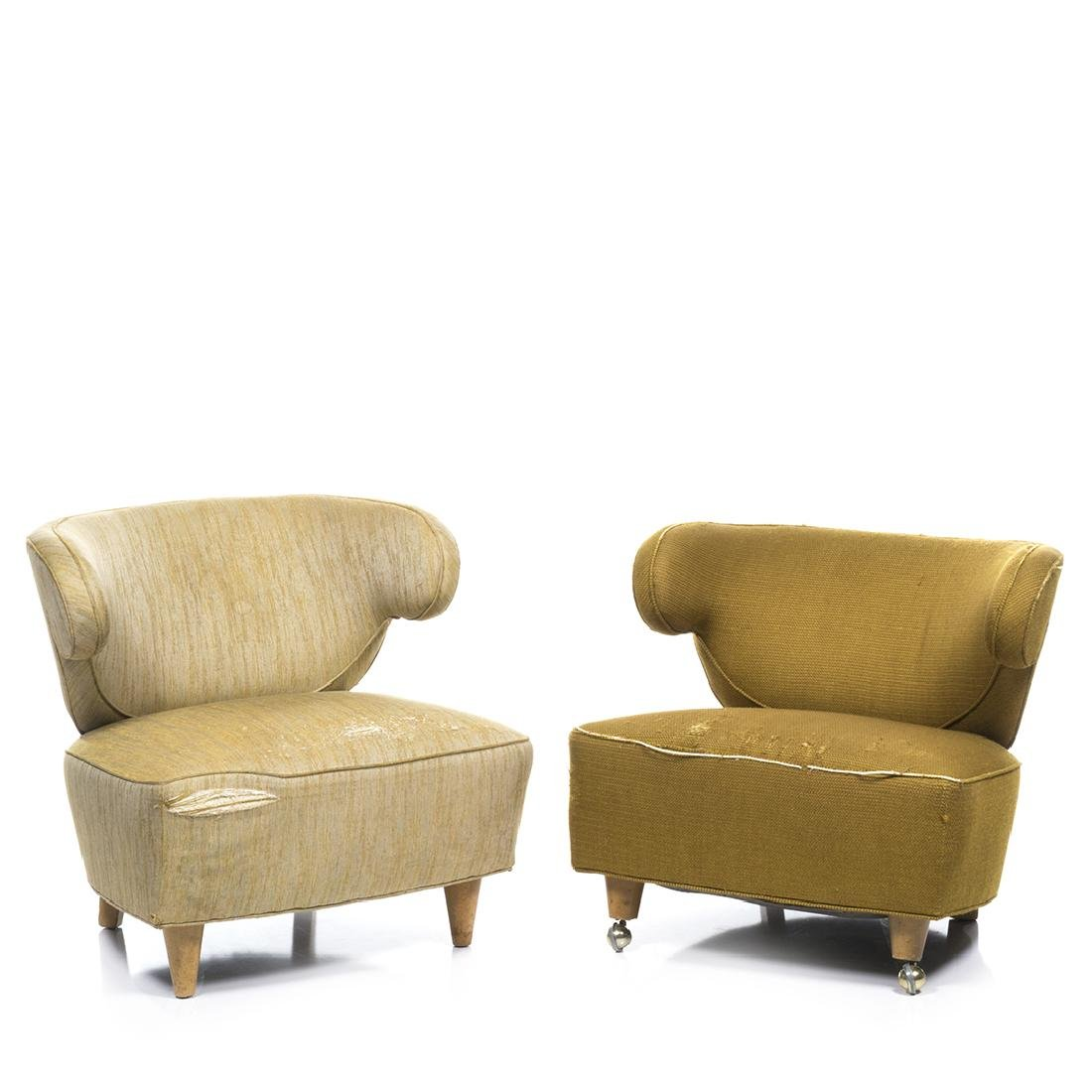 Paul Laszlo Scroll Arm Lounge Chairs (2)