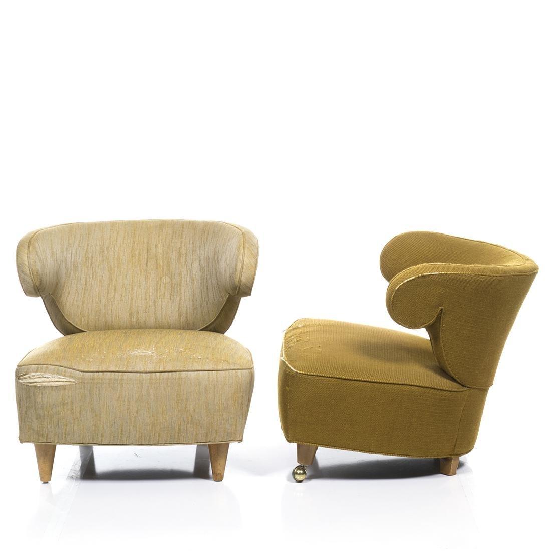 Paul Laszlo Scroll Arm Lounge Chairs (2) - 2