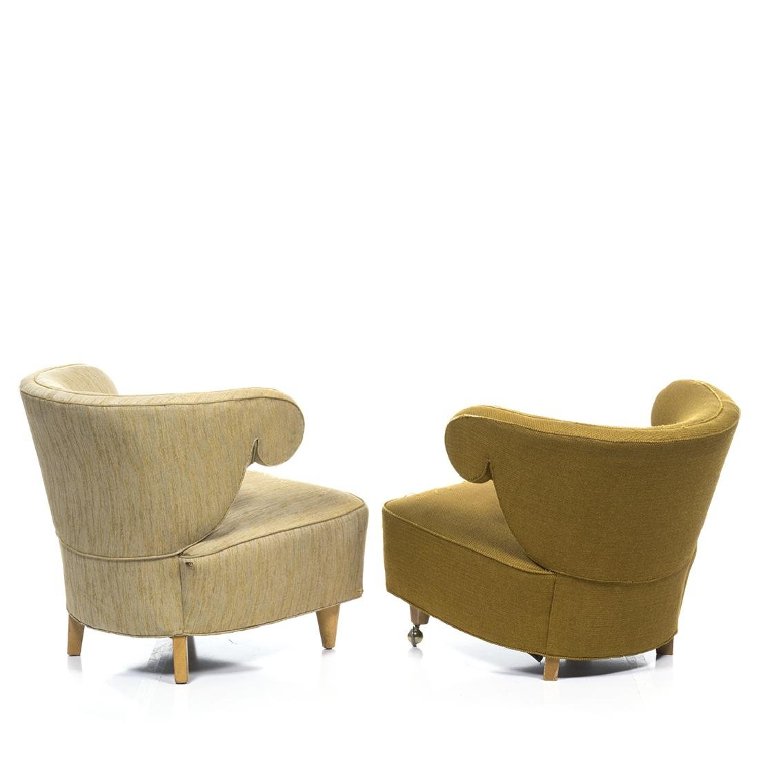 Paul Laszlo Scroll Arm Lounge Chairs (2) - 3