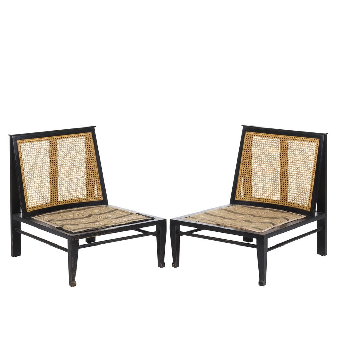 Cane Back Lounge Chairs (2)