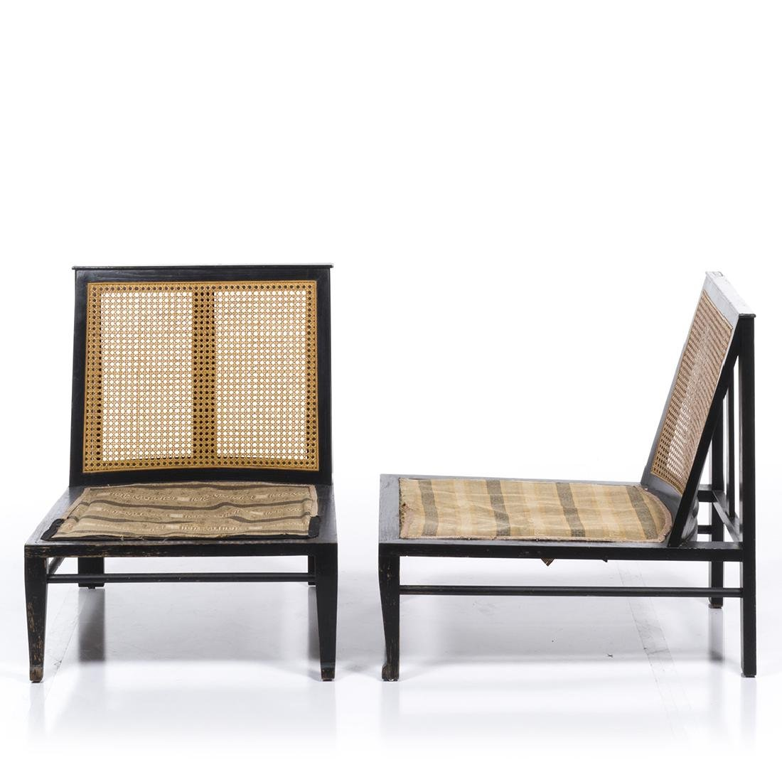 Cane Back Lounge Chairs (2) - 2