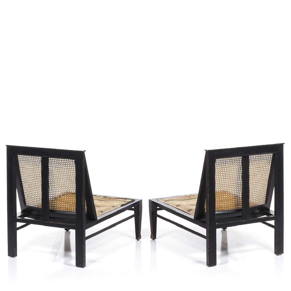 Cane Back Lounge Chairs (2) - 3