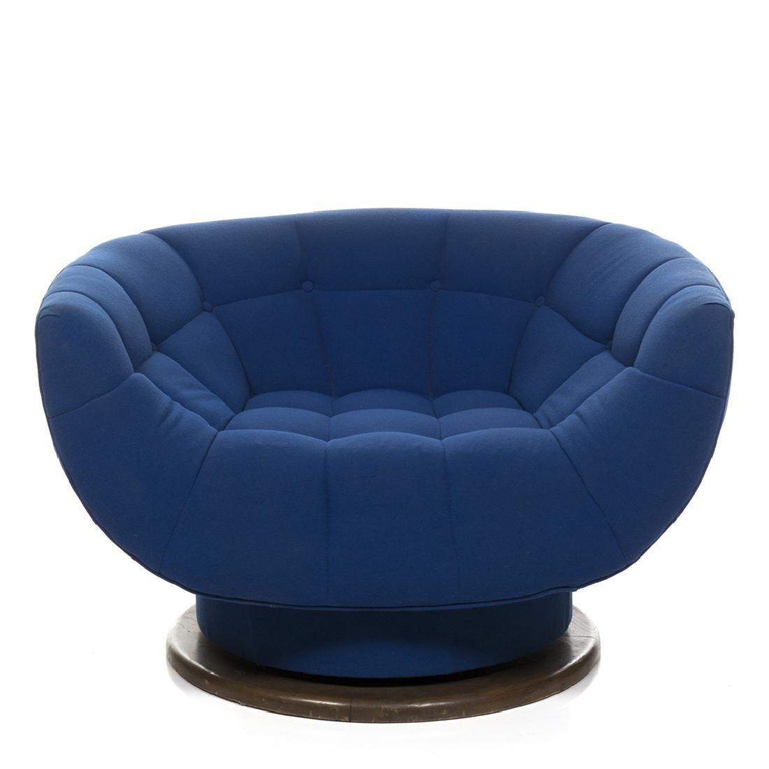 Monumental Adrian Pearsall Swivel Lounge Chair