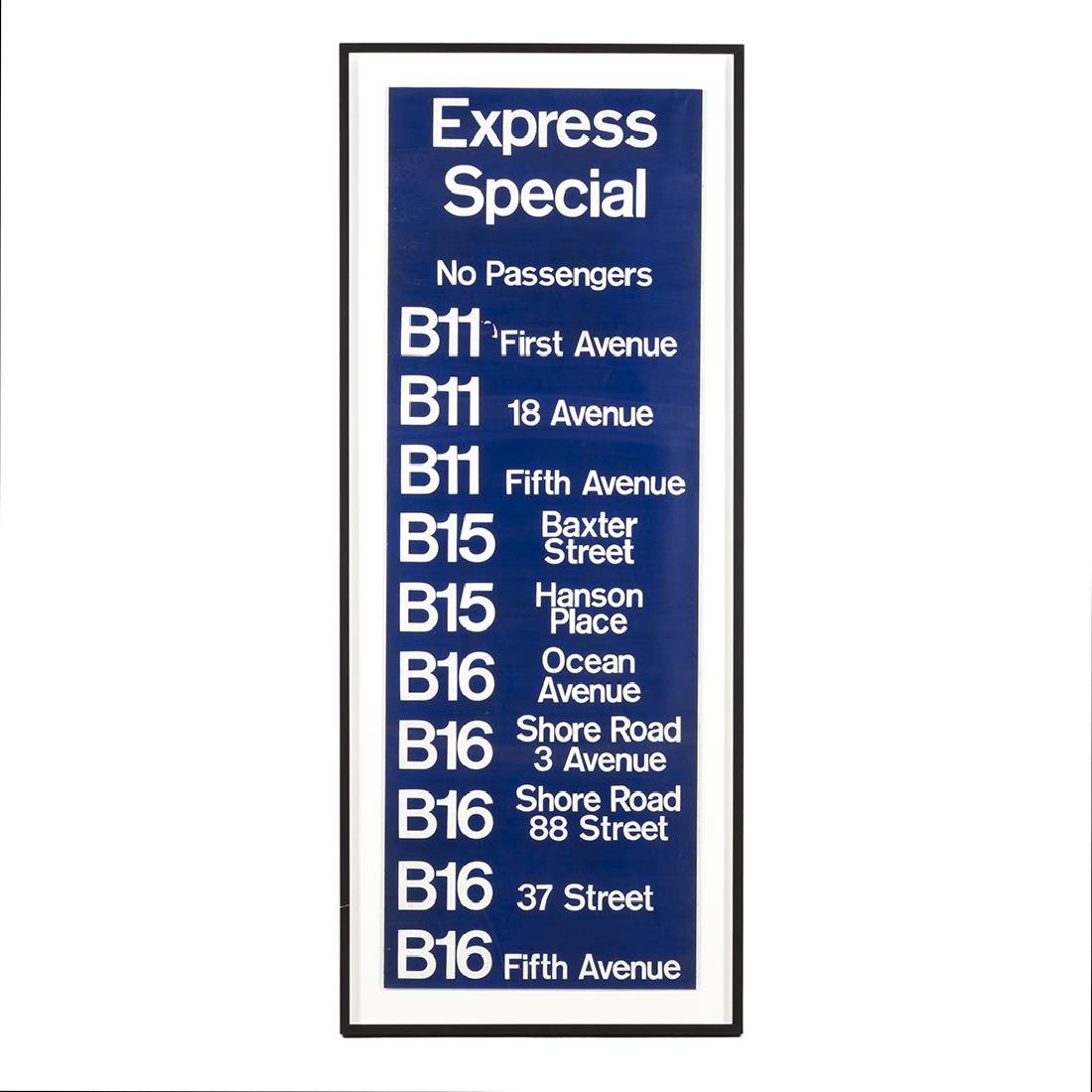 """""""Express Special"""" Brooklyn Bus Sign"""