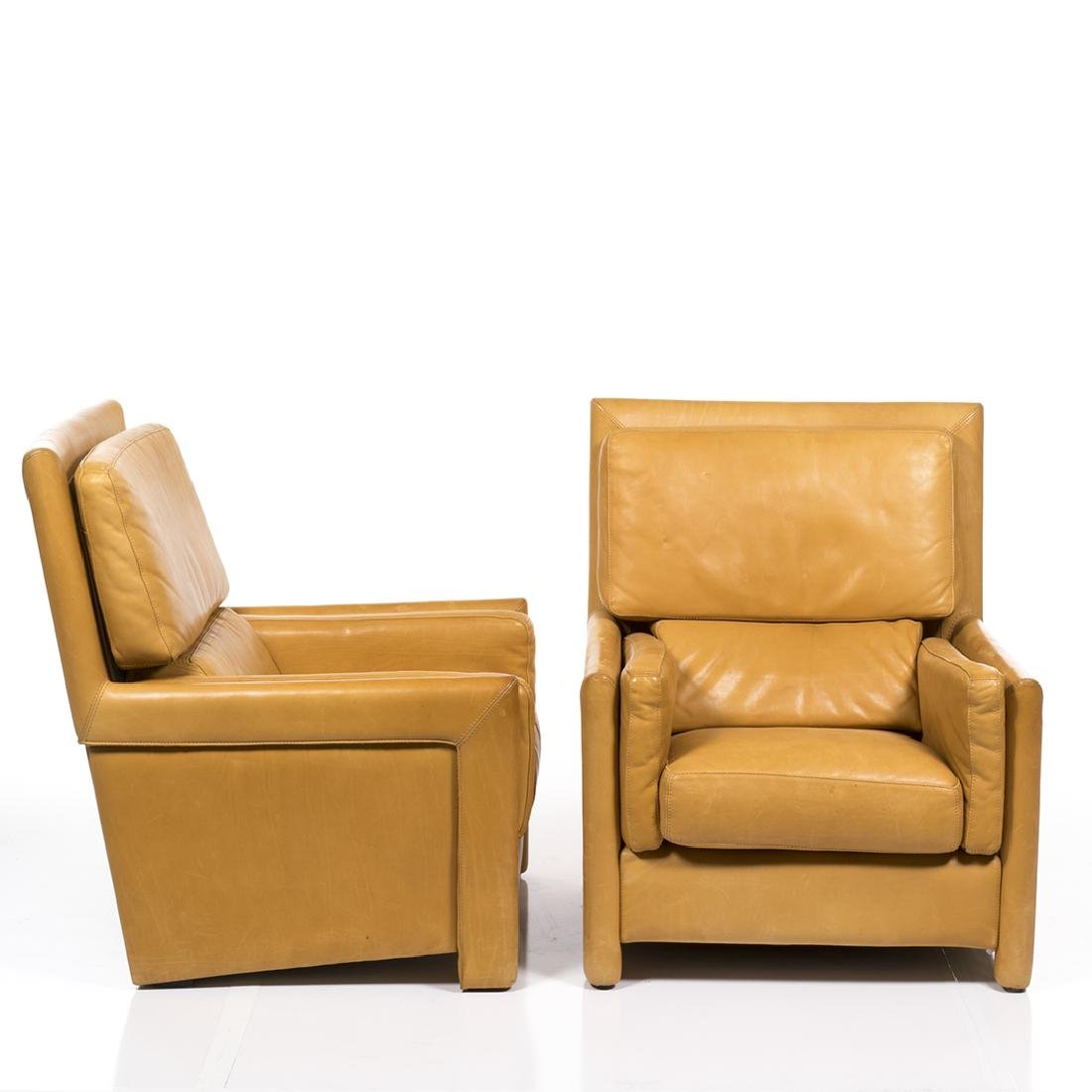 Roche Bobois Leather Club Chairs (2) - 2
