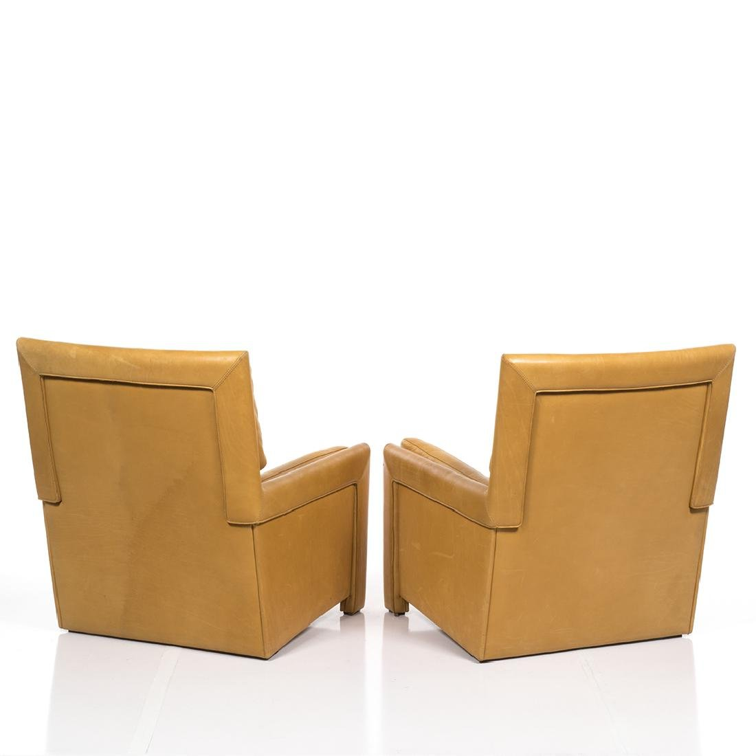 Roche Bobois Leather Club Chairs (2) - 3