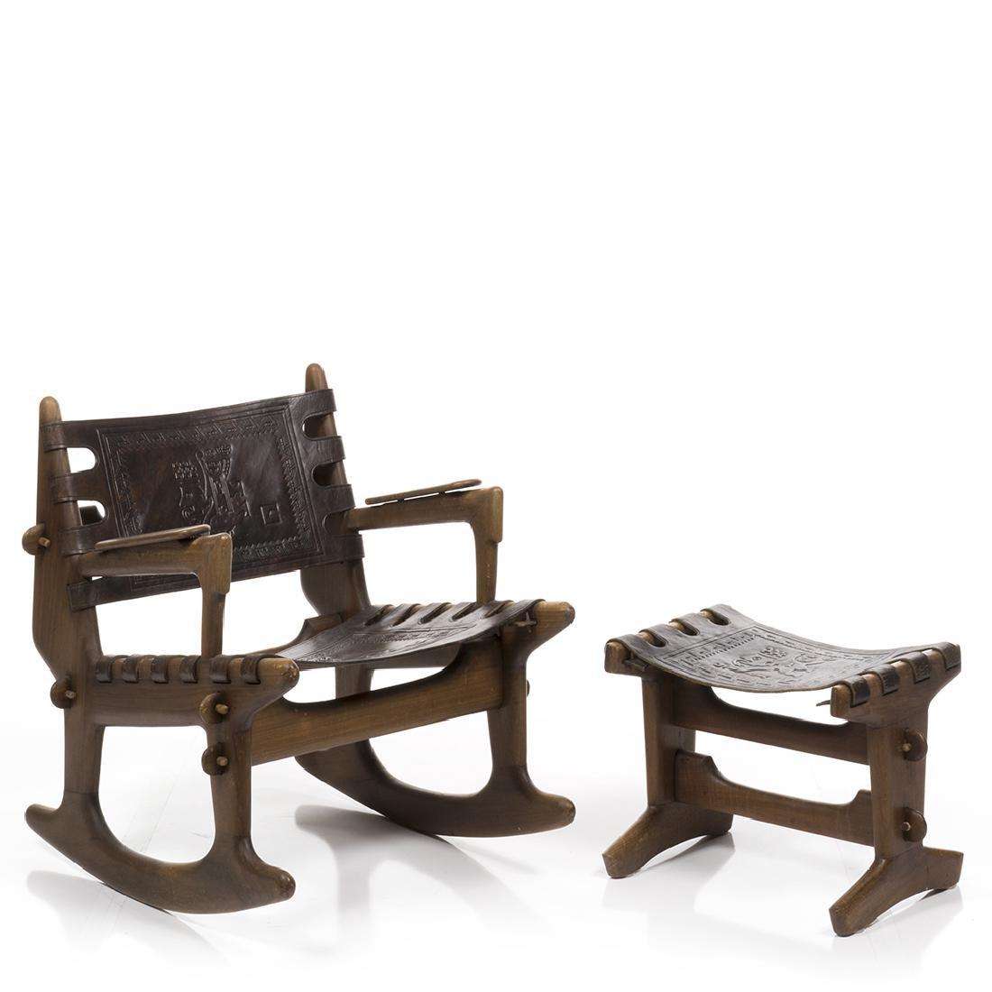 Angel Pazmino Rocking Chair and Ottoman - 2