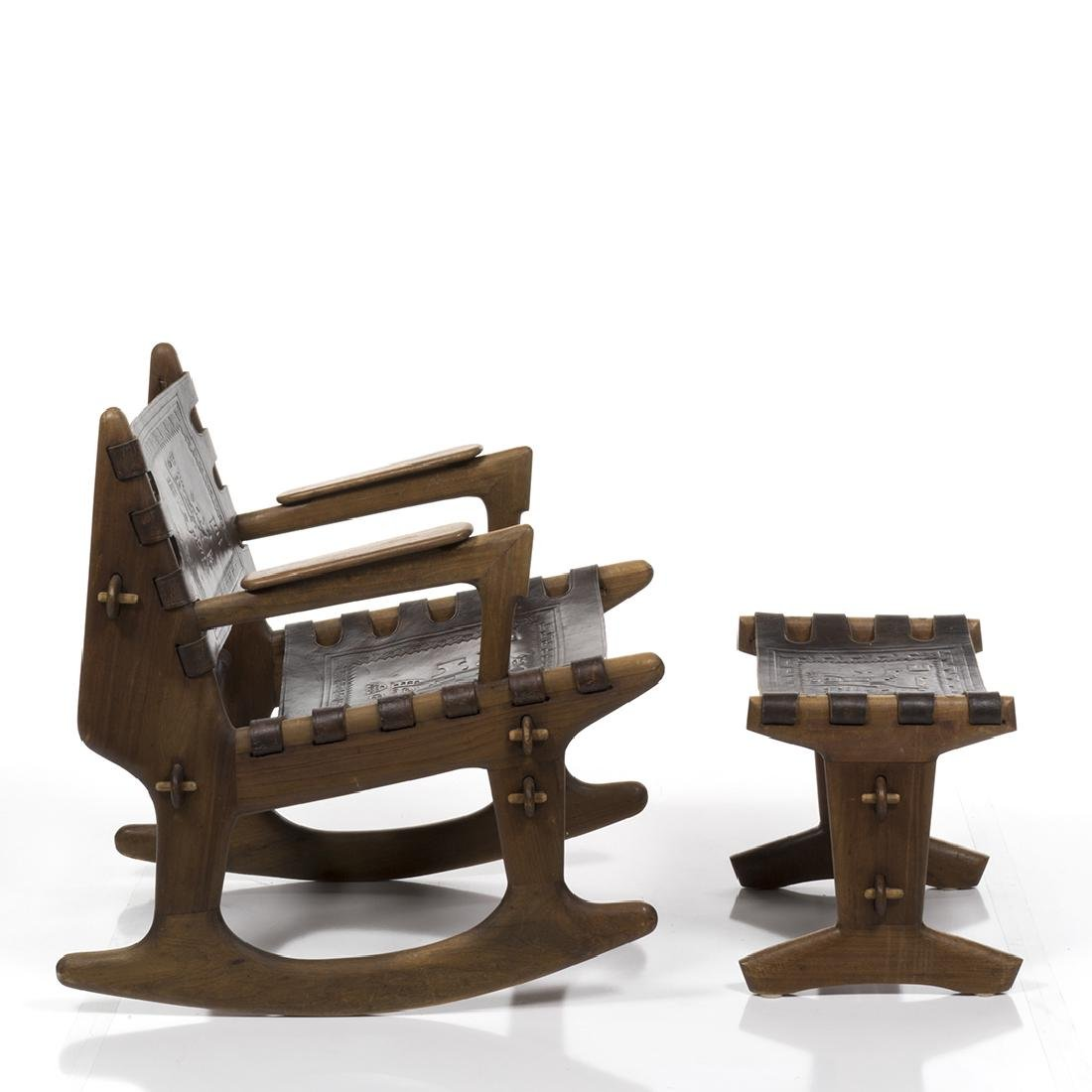 Angel Pazmino Rocking Chair and Ottoman - 7