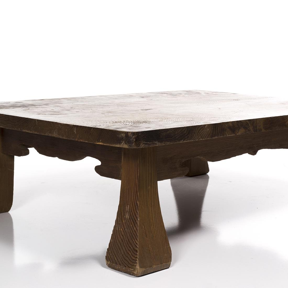Low Craftsman Style Table - 3