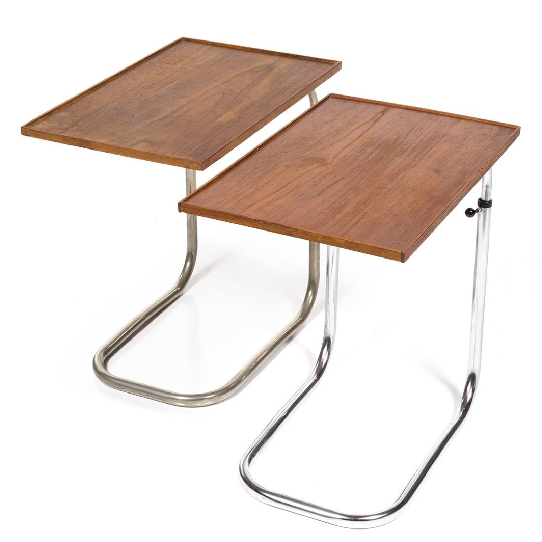 Adjustable Teak Tray Tables (2)
