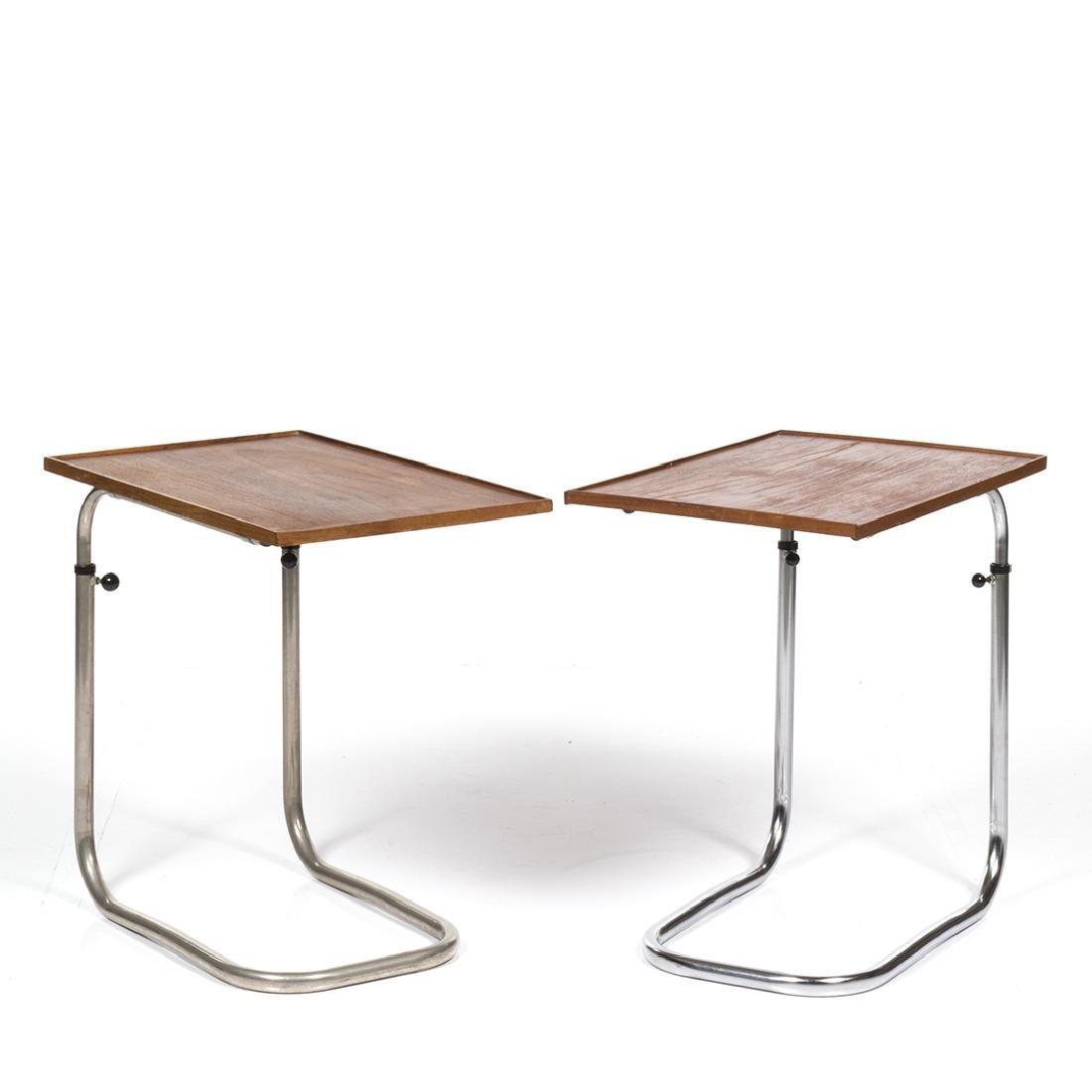 Adjustable Teak Tray Tables (2) - 2