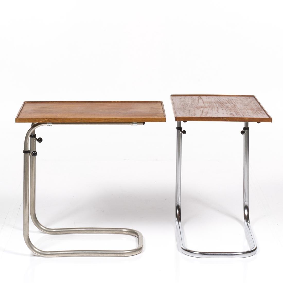 Adjustable Teak Tray Tables (2) - 3