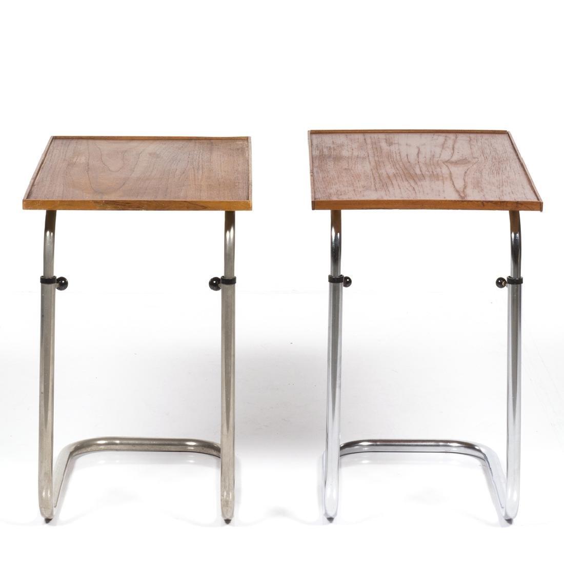 Adjustable Teak Tray Tables (2) - 4