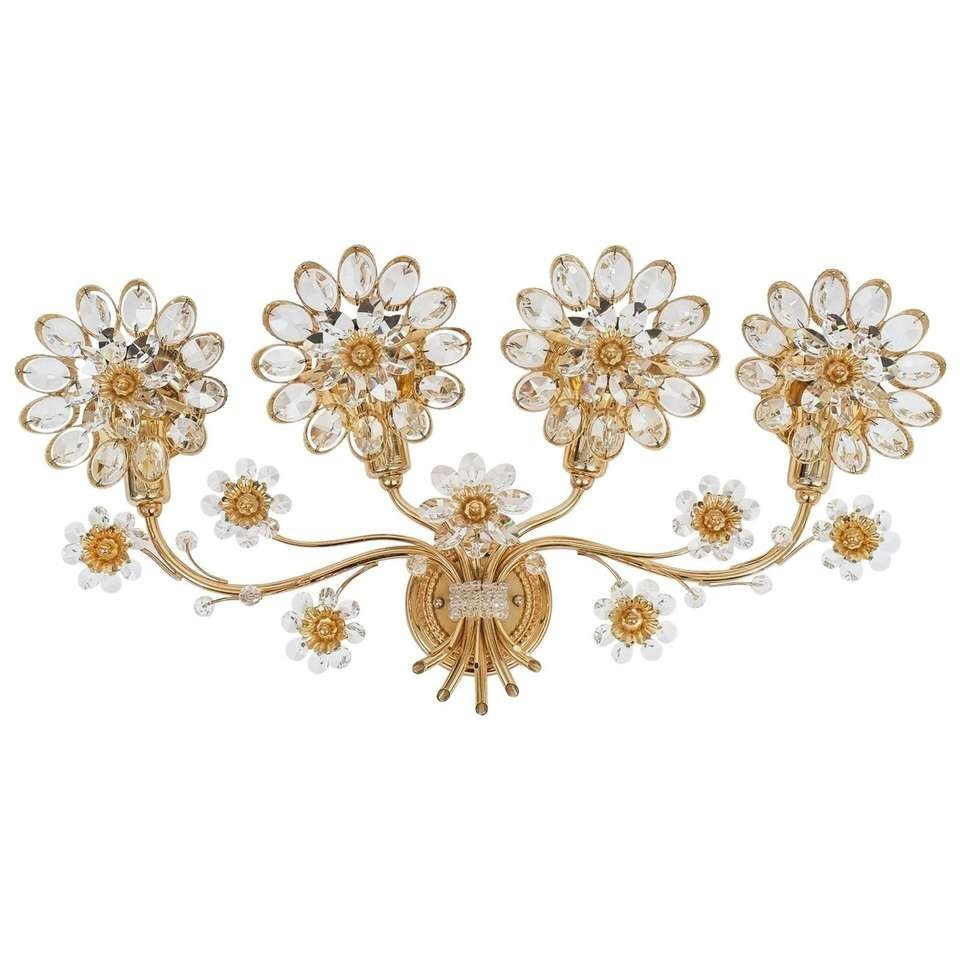 Palwa Floral Crystal Sconce