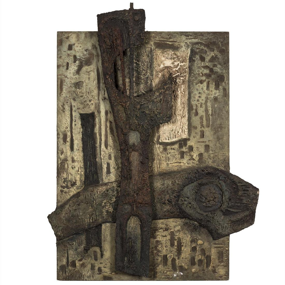 French Sculptural Abstract Panel
