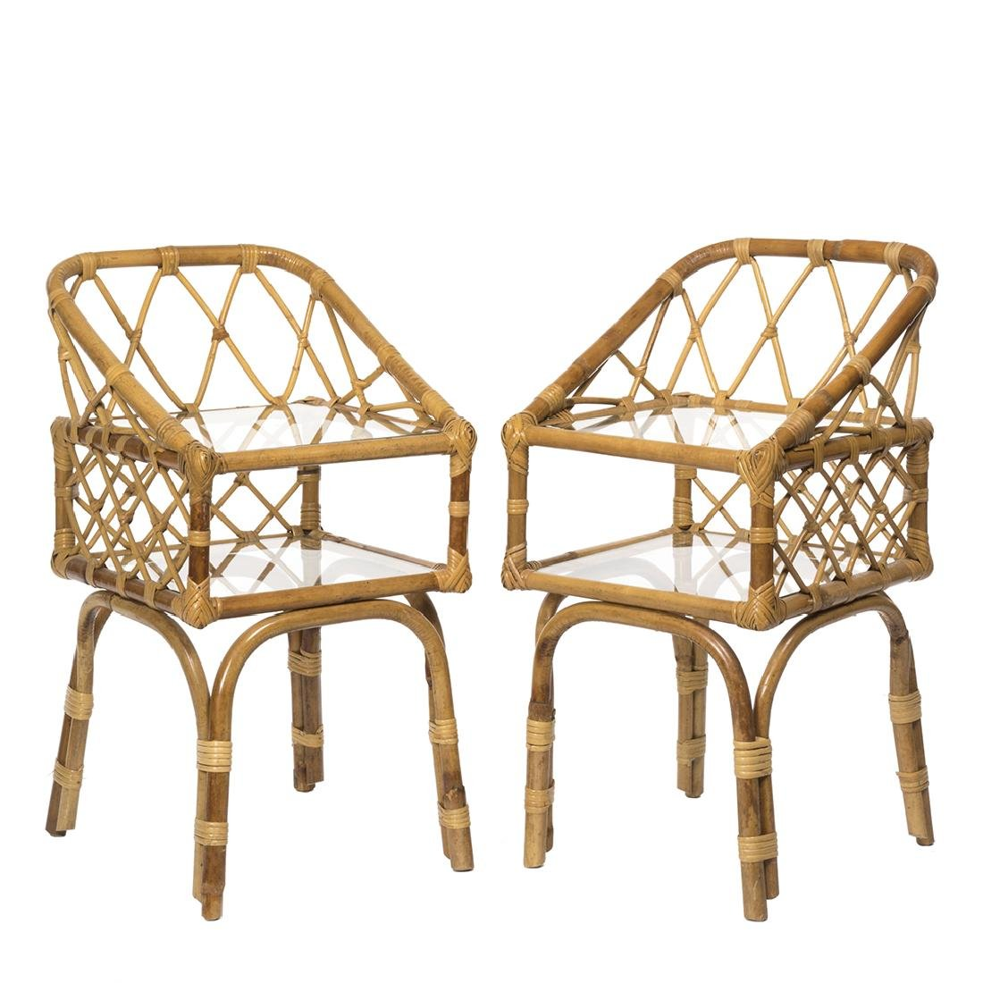 Rattan Side Tables (2)