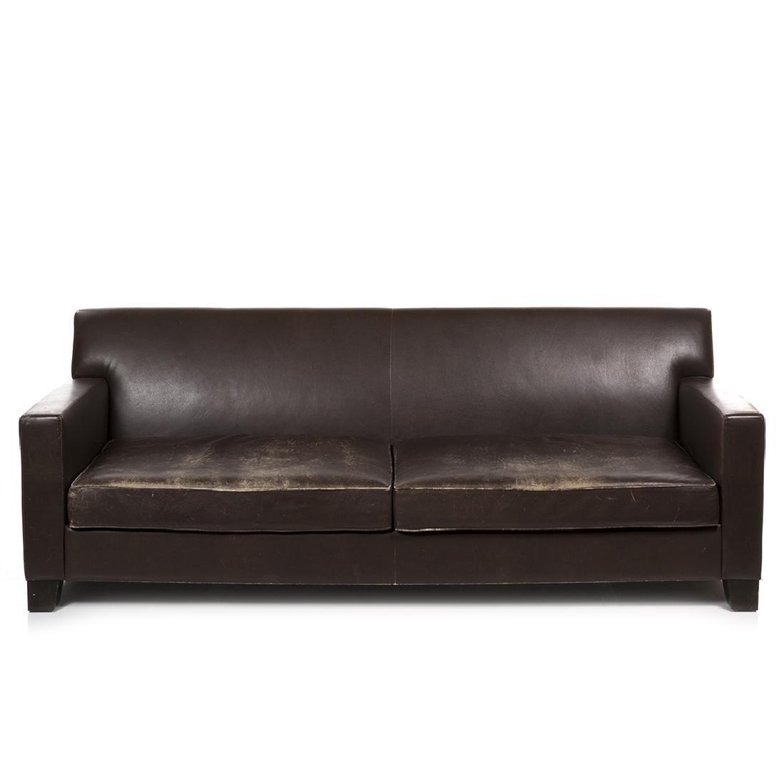 Philippe Hurel Leather Sofa - 2