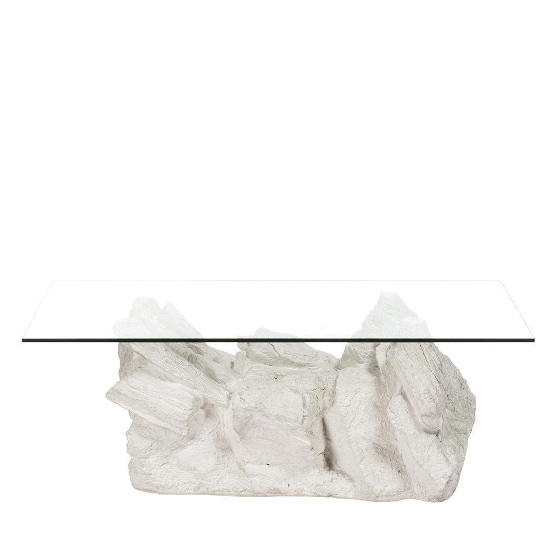 Faux-Rock Plaster Coffee Table