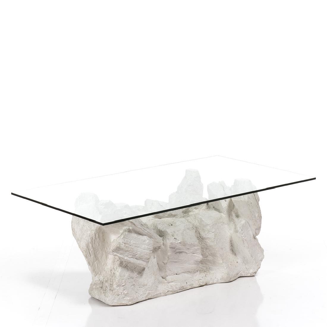 Faux-Rock Plaster Coffee Table - 2