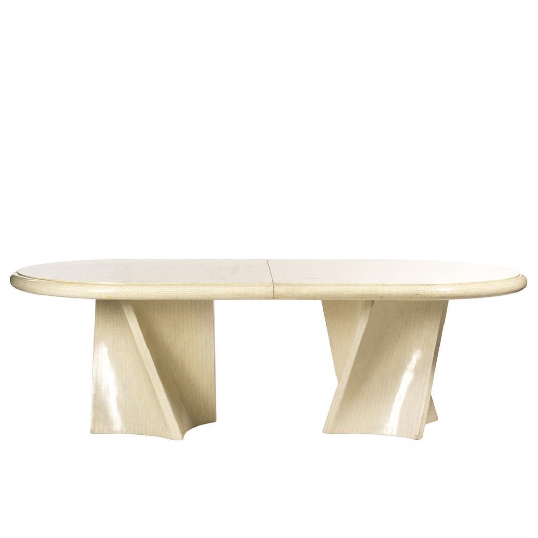 Karl Springer Style Dining Table
