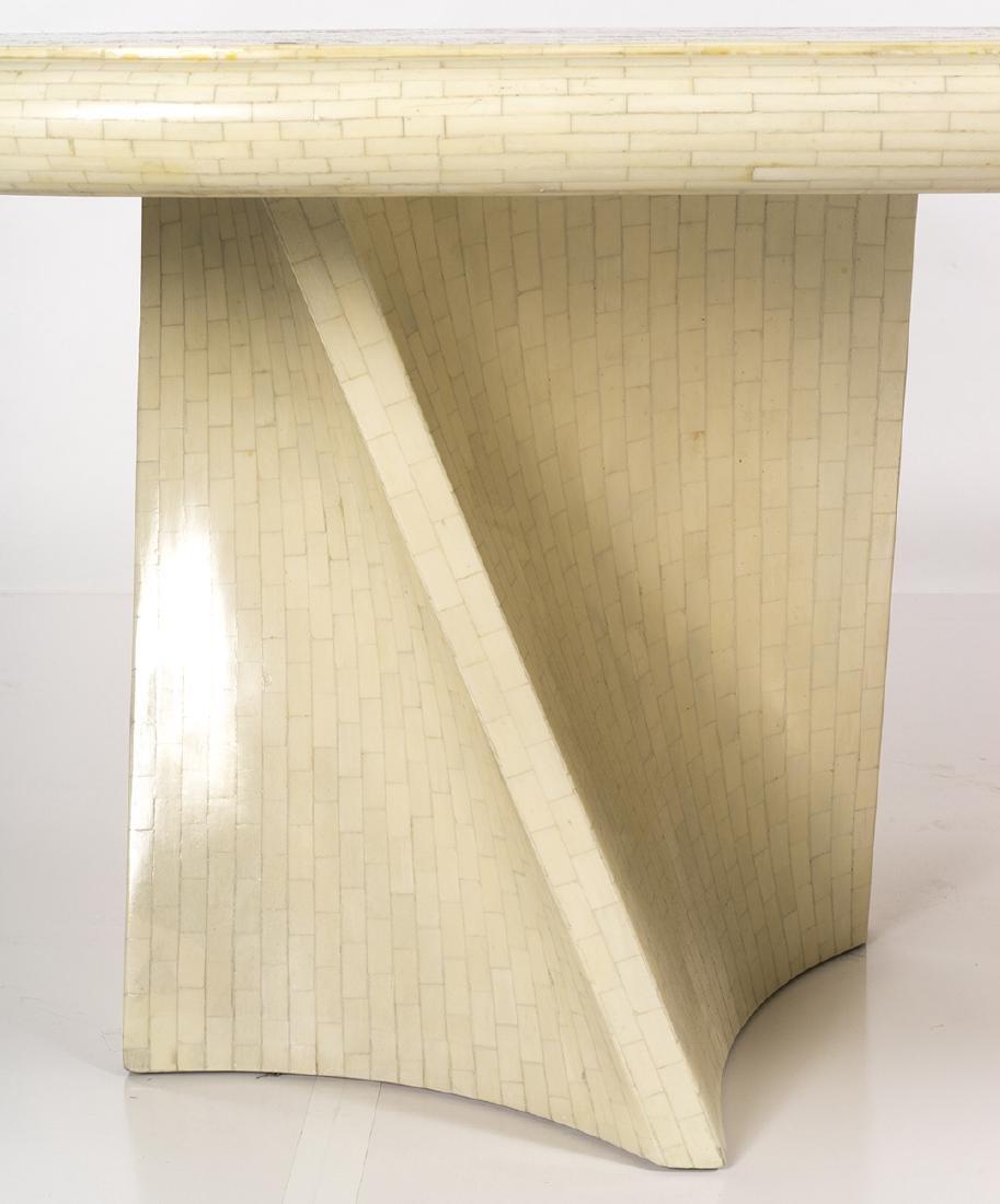 Karl Springer Style Dining Table - 4