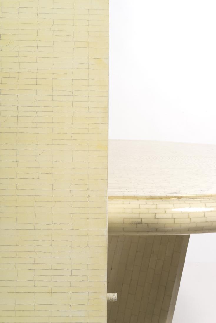Karl Springer Style Dining Table - 5