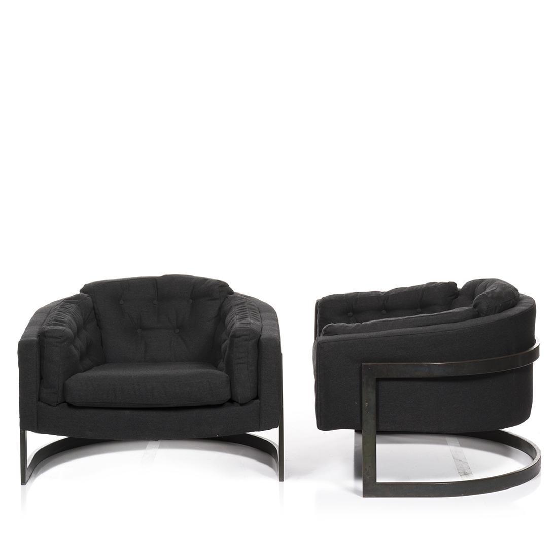 Jules Heumann Bronze Lounge Chairs (2) - 2